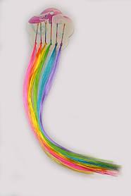 Цветные пряди на невидимках набор 6 шт