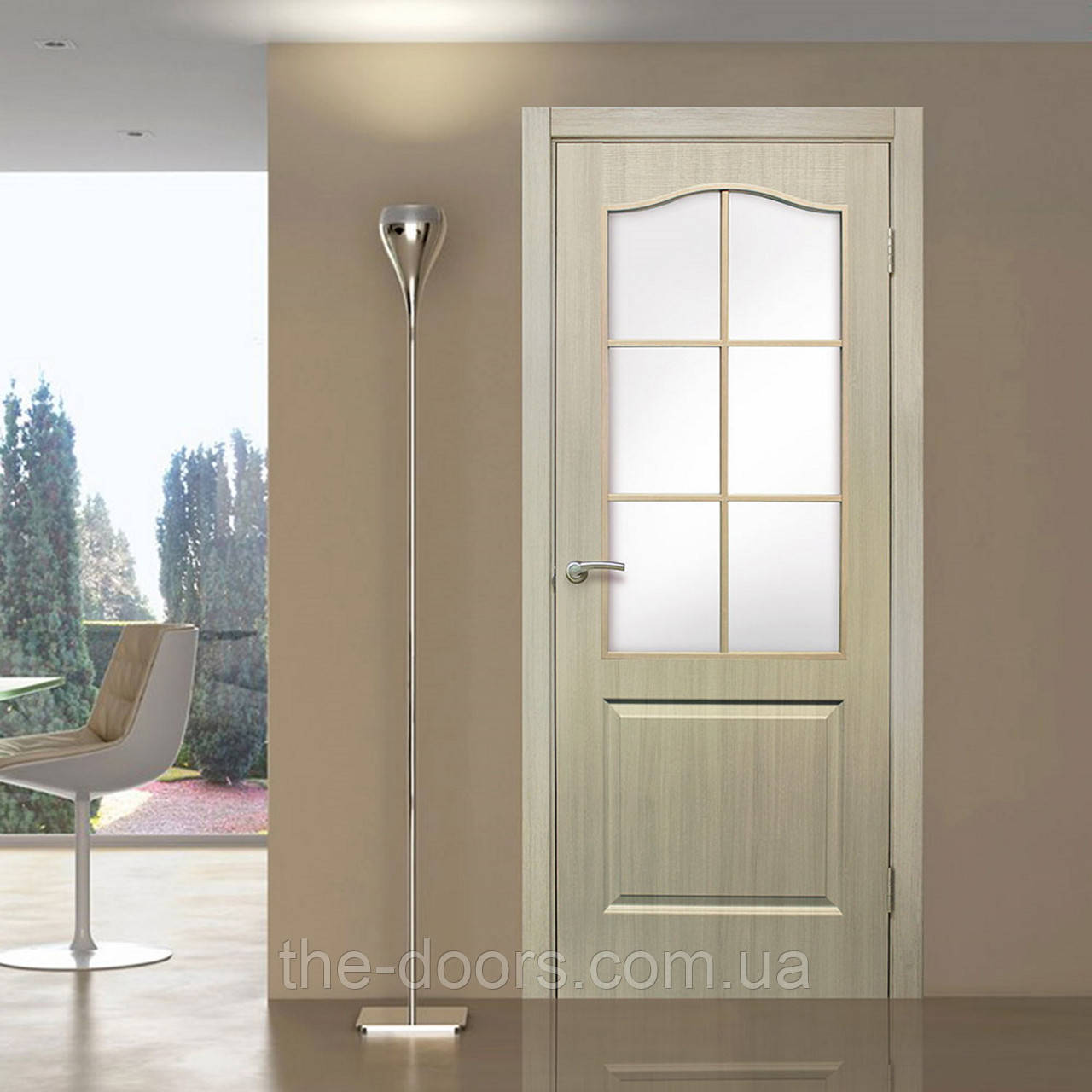 Двери межкомнатные Классика стекло сатин
