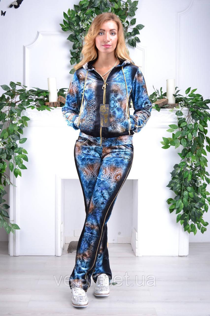 Велюровый женский турецкий спортивный костюм EZE купить разм 46,48,50