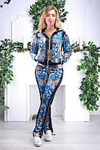 Жіночий велюровий турецький спортивний костюм EZE купити розм 46,48,50