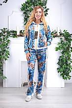 Жіночий велюровий турецький спортивний костюм EZE купити розм 50,52,54,56