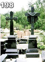 Кресты надгробные из гранита, гранитный крест на могилу образец № 198