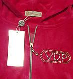 Женский спортивный велюровый турецкий костюм, С , М, L, 100 % Cotton, фото 4