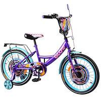 """Велосипед для дітей TILLY Glow 18"""" T-218213/1 purple+azure"""