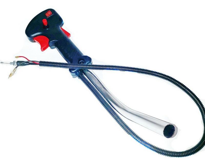 Ручка газа в сборе для мотокос_бензокос (евроклавиша)
