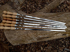 Шампура с деревянной ручкой - ручная работа (3 мм)