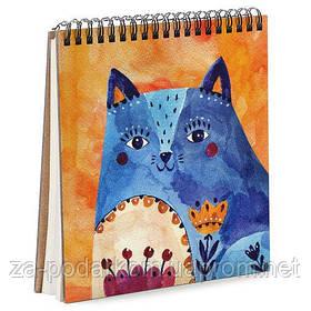 Блокнот Sketchbook (квадрат.) Синий кот