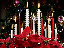 Свечи декоративные, ароматические, столовые, подсвечники