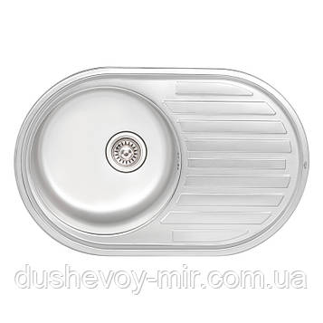 Кухонная мойка Qtap 7750 Satin 0,8 мм (QT7750SAT08)