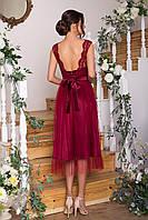 Вечернее нежное платье с шифоновой юбкой цвета в ассортименте 42 44 46 48