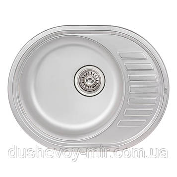 Кухонная мойка Qtap 5745 Satin 0,8 мм (QT5745SAT08)