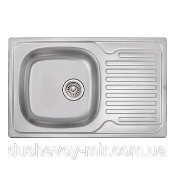Кухонная мойка Qtap 7850 Micro Decor 0,8 мм (QT7850MICDEC08)