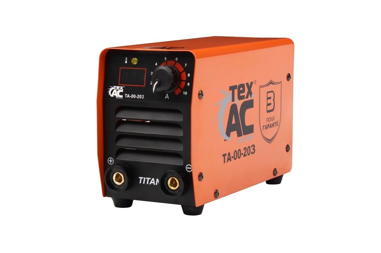 Зварювальний інверторний апарат TexAC (7,5 кВА, 300 А) TITAN ТА-00-203