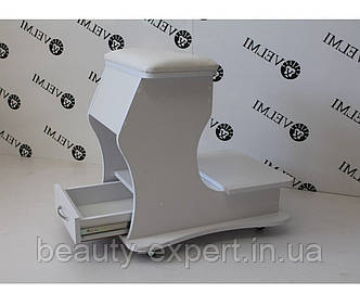 Тележка для педикюра мобильная пуф подставка для ног выдвижной ящик подставка педикюрная для ванночки V29