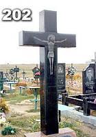 Кресты надгробные из гранита, гранитный крест на могилу образец № 202