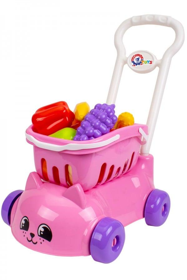 """Іграшка """"Візочок для супермаркету від ТехноК""""."""