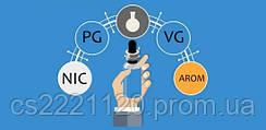 Компоненти для самозамісу. Самозаміс пропорції VG/PG. Гліцерин і пропіленгліколь.