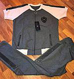 Трикотажний жіночий річний турецький костюм великого розміру EZE, розміри 50,52,54 (наші розміри), фото 2