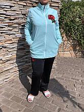 Жіночий літній спортивний костюм (Туреччина); розм 48,50,52,54; 2 кольори