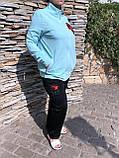 Жіночий літній спортивний костюм (Туреччина); розм 48,50,52,54; 2 кольори, фото 2