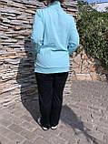 Жіночий літній спортивний костюм (Туреччина); розм 48,50,52,54; 2 кольори, фото 3