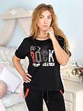 Жіночий чорний спортивний костюм (Туреччина, Zanardi); розм 44,46,48,50, фото 5