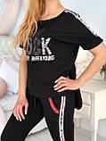 Жіночий чорний спортивний костюм (Туреччина, Zanardi); розм 44,46,48,50, фото 7