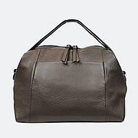 Стильна сумка уікендер бежева шкіряна 9042, фото 1