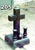 Ритуальные кресты из гранита, надгробный крест на могилу образец № 205