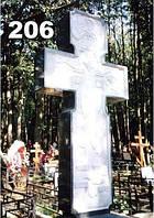 Ритуальные кресты из гранита, надгробный крест на могилу образец № 206