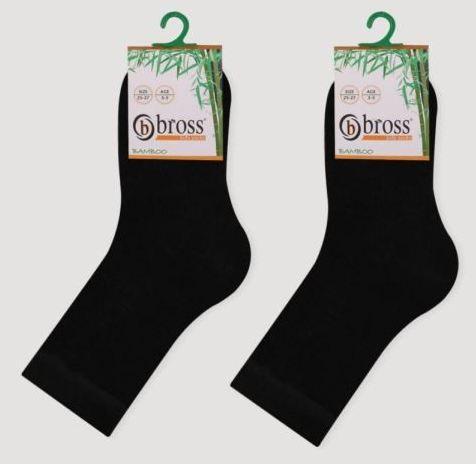 Носки детские демисезонные бамбуковые Bross однотонные черные