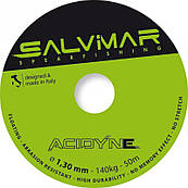 Катушечный линь SALVIMAR ACIDYNE Dyneema ø1,5 mm ярко-зелёный (цена за метр)
