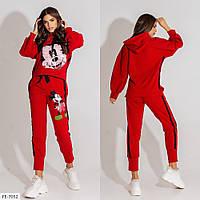 Спортивный костюм женский модный яркий с рисунком Мики кофта и штаны р-ры 42-46 арт.5083, фото 1