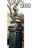 Ритуальные кресты из гранита, надгробный крест на могилу образец № 209