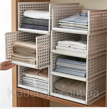 ОПТ Багаторозмірних складаний пластиковий органайзер з ящиками для одягу, багатошаровий стелаж для зберігання