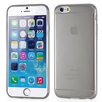 """Чехол силиконовый Ультратонкий Epik для iPhone 6/6S (4,7"""") Прозрачный с черным оттенком"""