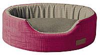 Лежак для животного COZY FUXIA, овальный, розово-серый, 50x35x14см