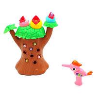 Магнитная развивающая игрушка для малышей Накорми птенца червячками Top bright дупло/дятел/птички - звук/свет