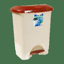Ведро для мусора с педалью Irak Plastik Stella 45л Бежевое 4572, КОД: 1851578
