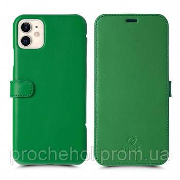 Чехол книжка Stenk Premium для Apple iPhone 11 Зелёный