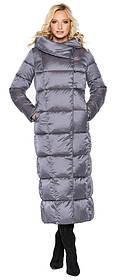 Комфортная куртка жемчужно-серая женская модель 31056