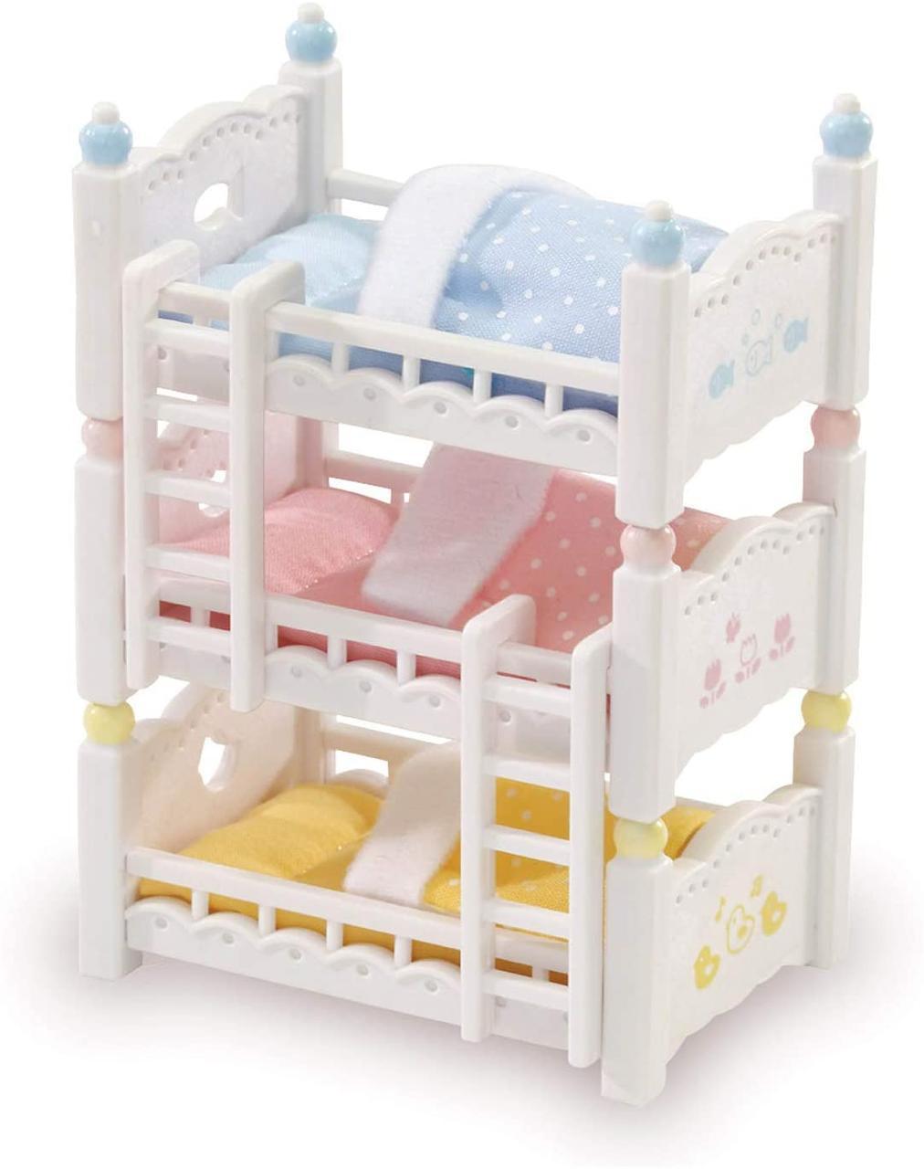 Детская кроватка Calico Critters Triple Baby Bunk Beds Трехъярусная кровать сильвания фемели Sylvanian Familis