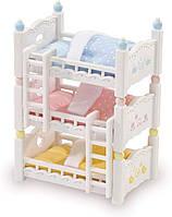 Детская кроватка Calico Critters Triple Baby Bunk Beds Трехъярусная кровать сильвания фемели Sylvanian Familis, фото 1