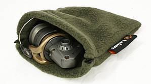 Флисовый чехол-мешок для катушки LeRoy Олива L 25*25см