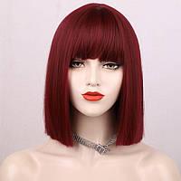 Перука Каре темно-червоний колір