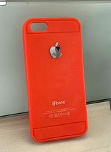 Силиконовый чехол бампер для iPhone 5 5Sкрасный