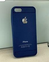 Силиконовый чехол бампер для iPhone 5 5S синий
