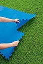 Килимок-пазл для підстилки басейну 58220 (50х50 см 8шт в комплекті), фото 6