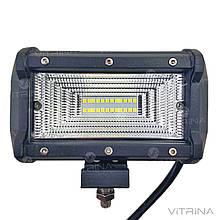 Светодиодная фара LED (ЛЕД) прямоугольная 72W (24 диода) 133 мм (широкий луч) | VTR