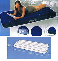 Велюровый надувной матрас Intex 68950 (76х193х22см)